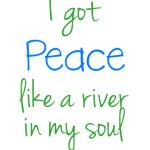 I got peace