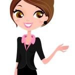 15046660 - modern business woman. vector illustration